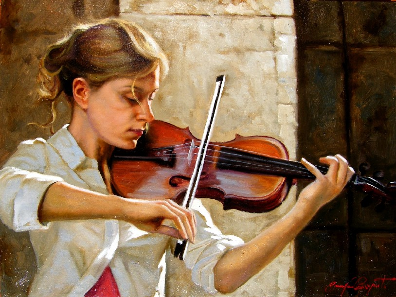 la violinista_30x40